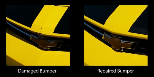 Yellow Camaro before and after copy