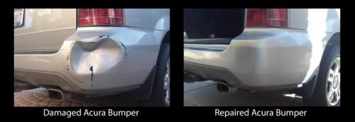 Fixed Acura Bumper